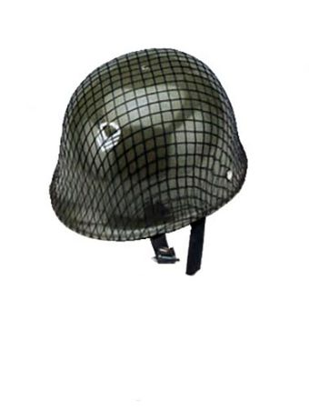 Child's Green Army Helmet with Net