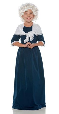 Child's Navy Martha Washington Costume