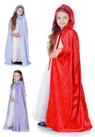 Child's Panne Velvet Hooded Cape - More Colors