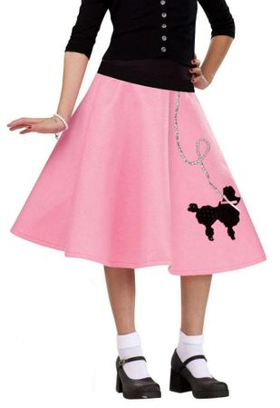 Child's Pink 50's Poodle Skirt