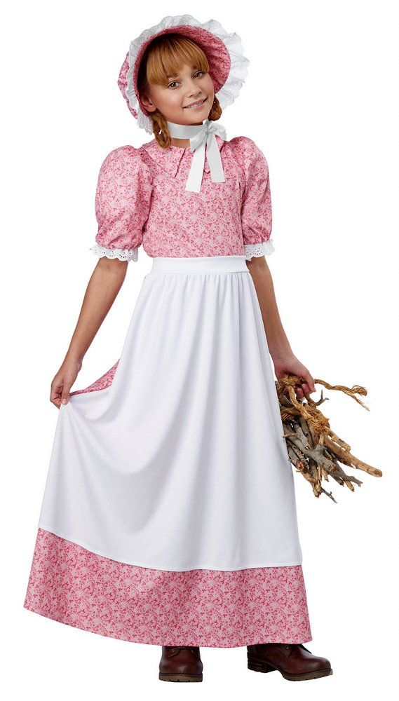 Childs Pink Early American Girl Costume Candy Apple Costumes