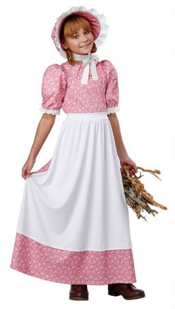 Child's Pink Early American Girl Costume