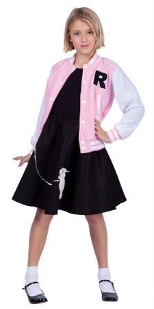 Child's Pink Letterman Jacket Costume
