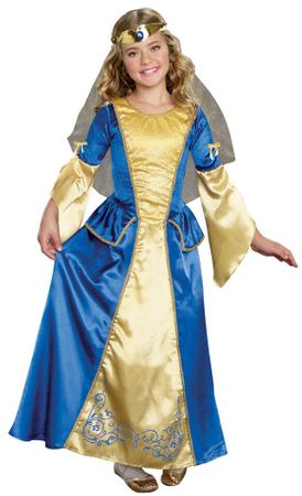 Child's Renaissance Princess Costume - Blue/Gold