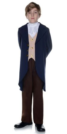 Child's Blue/Brown Thomas Jefferson Costume