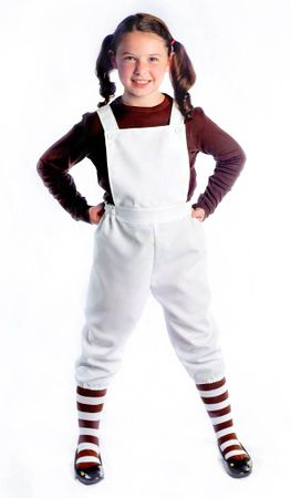 Child's White Costume Overalls