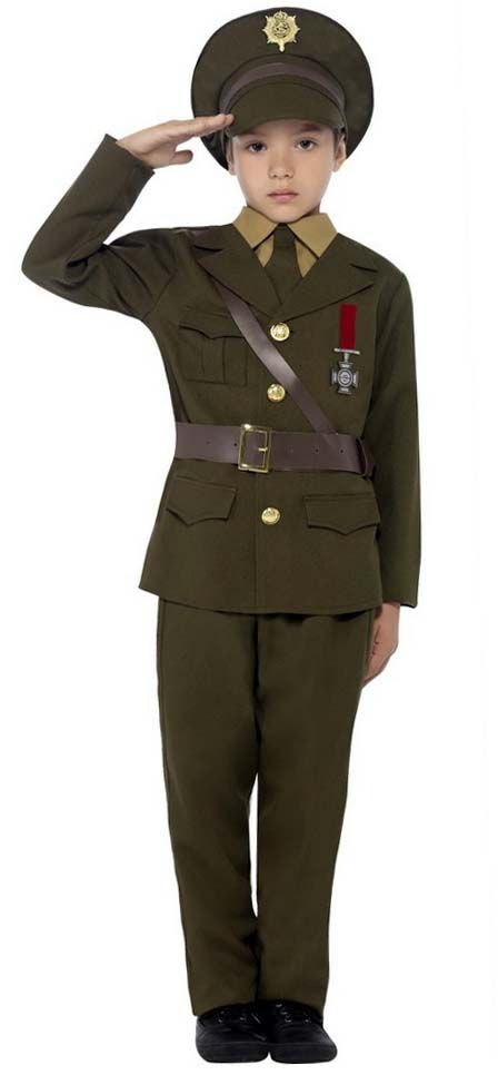 2335fd115db Child's 1940s Army Officer Costume