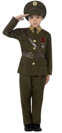 Child's 1940s Army Officer Costume