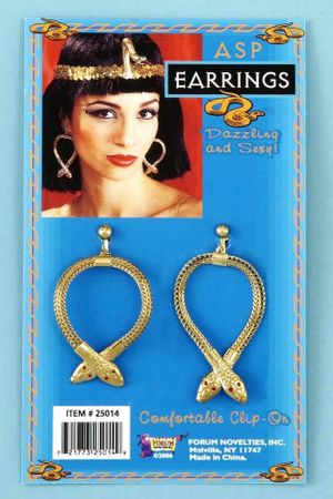 Cleopatra Asp Earrings