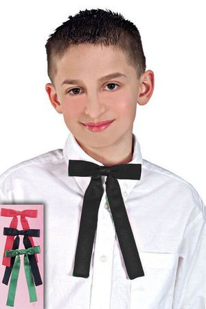 Clip-On Colonel String Tie - Black, Red or Green