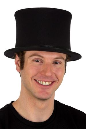 Collapsible Black Top Hat