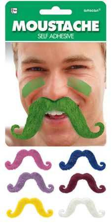 Colorful Handlebar Mustache - More Colors