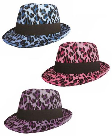 Colorful Leopard Print Fedora Hat - More Colors