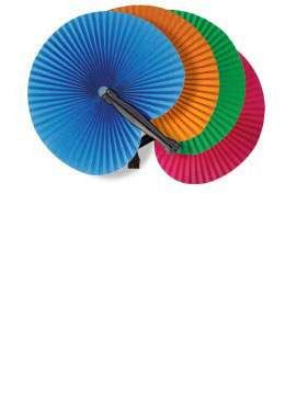 Colorful Paper Folding Fan