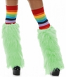 Cool Green Faux Fur Leg Warmers