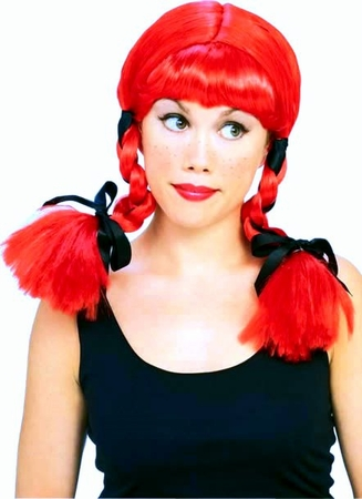 Country Girl Red Braids Wig