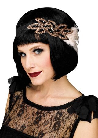 Deluxe 1920's Champagne Beaded Flapper Headband