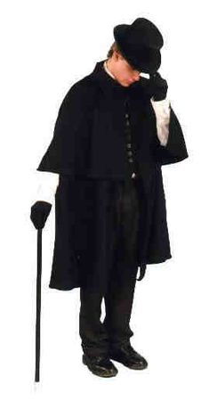 Deluxe Adult Black Victorian Cloak