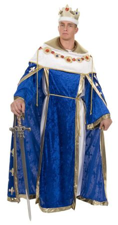 Deluxe Adult Blue Royal King Costume