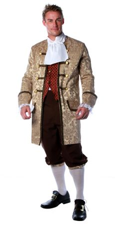 Deluxe Adult Colonial Man Costume - XL to 3X