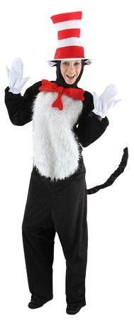 Deluxe Adult Dr. Seuss Cat in the Hat Costume