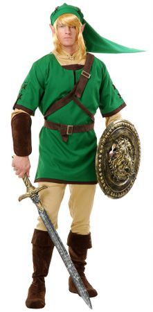 Deluxe Adult Elf Warrior Costume, Size Medium
