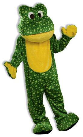 Deluxe Adult Green Frog Mascot Costume