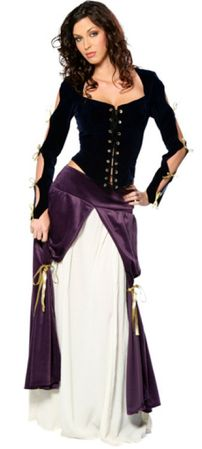 Deluxe Adult Lady Musketeer Renaissance Costume