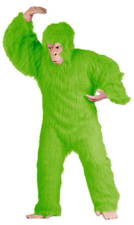 Deluxe Adult Lime Green Gorilla Costume