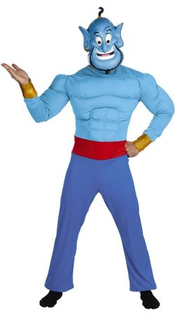 Deluxe Adult Muscle Chest Genie Costume - Aladdin