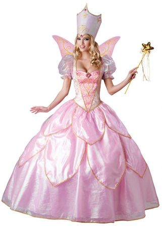 Deluxe Adult Pink Fairy Godmother or Good Witch Costume