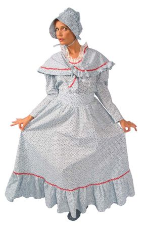 Deluxe Adult Pioneer Woman Costume With Shawl