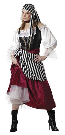 Deluxe Adult Pirate's Wench Costume, Size Medium