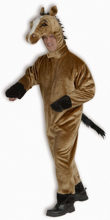 Deluxe Adult Plush Brown Horse Costume