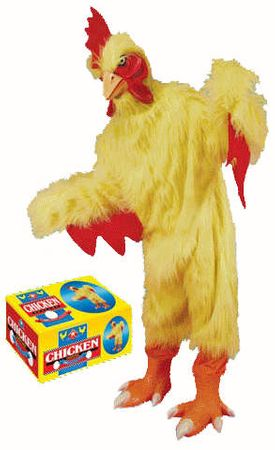 Deluxe Adult Plush Chicken Costume With Mask