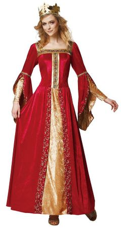 Deluxe Adult Red Renaissance Queen Costume