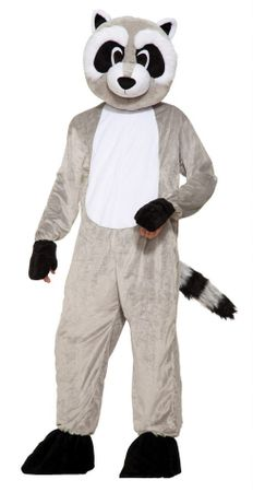 Deluxe Adult Rickey Raccoon Mascot Costume