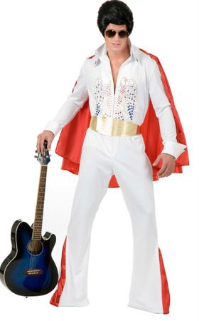 Deluxe Adult White Rhinestone Rock Star Costume
