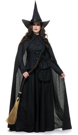 Deluxe Adult Wicked Witch Costume With Cape