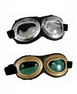 Deluxe Aviator Goggles - Silver or Gold