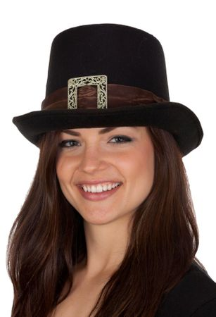 Deluxe Black 16th Century Pilgrim Hat