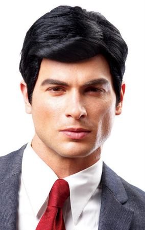 Deluxe Black Real Man Wig