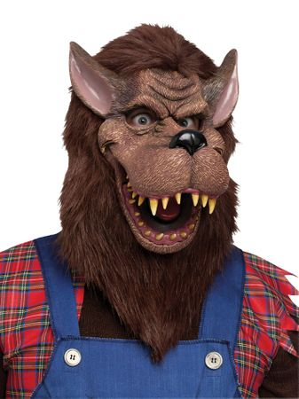Deluxe Brown Big Bad Wolf Mask