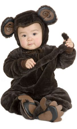Deluxe Child's Plush Monkey Costume