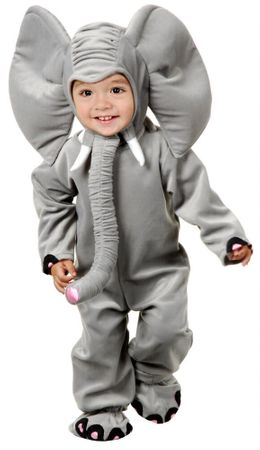 Deluxe Infant/Toddler Plush Elephant Costume