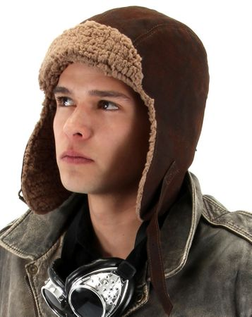 Deluxe Faux Sherpa Lined Aviator Hat