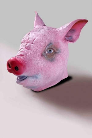 Deluxe Latex Pig Mask