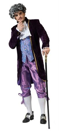 Deluxe Men's Lord Clive 18th Century Costume
