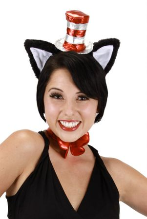Deluxe Mini Cat in the Hat Headband and Ears