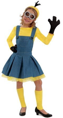 Deluxe Minions Girl's Jumper Costume